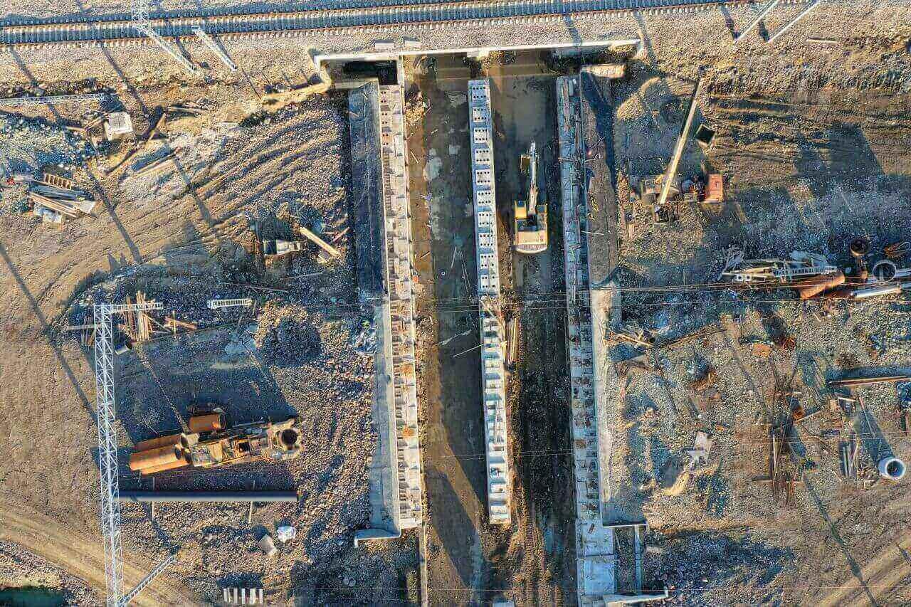 Видео со строительства станции «Смоляниново»