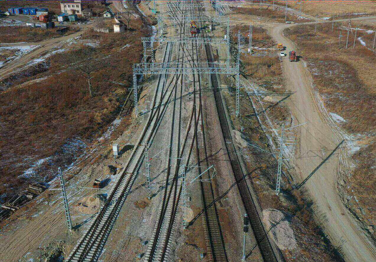 Облет строительства станции Смоляниново